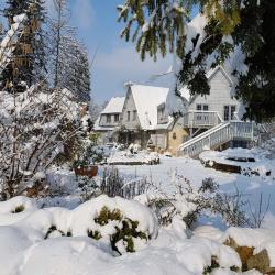 La neige sur le jardin de saint jean