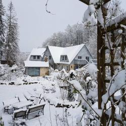de la terrasse sous la neige