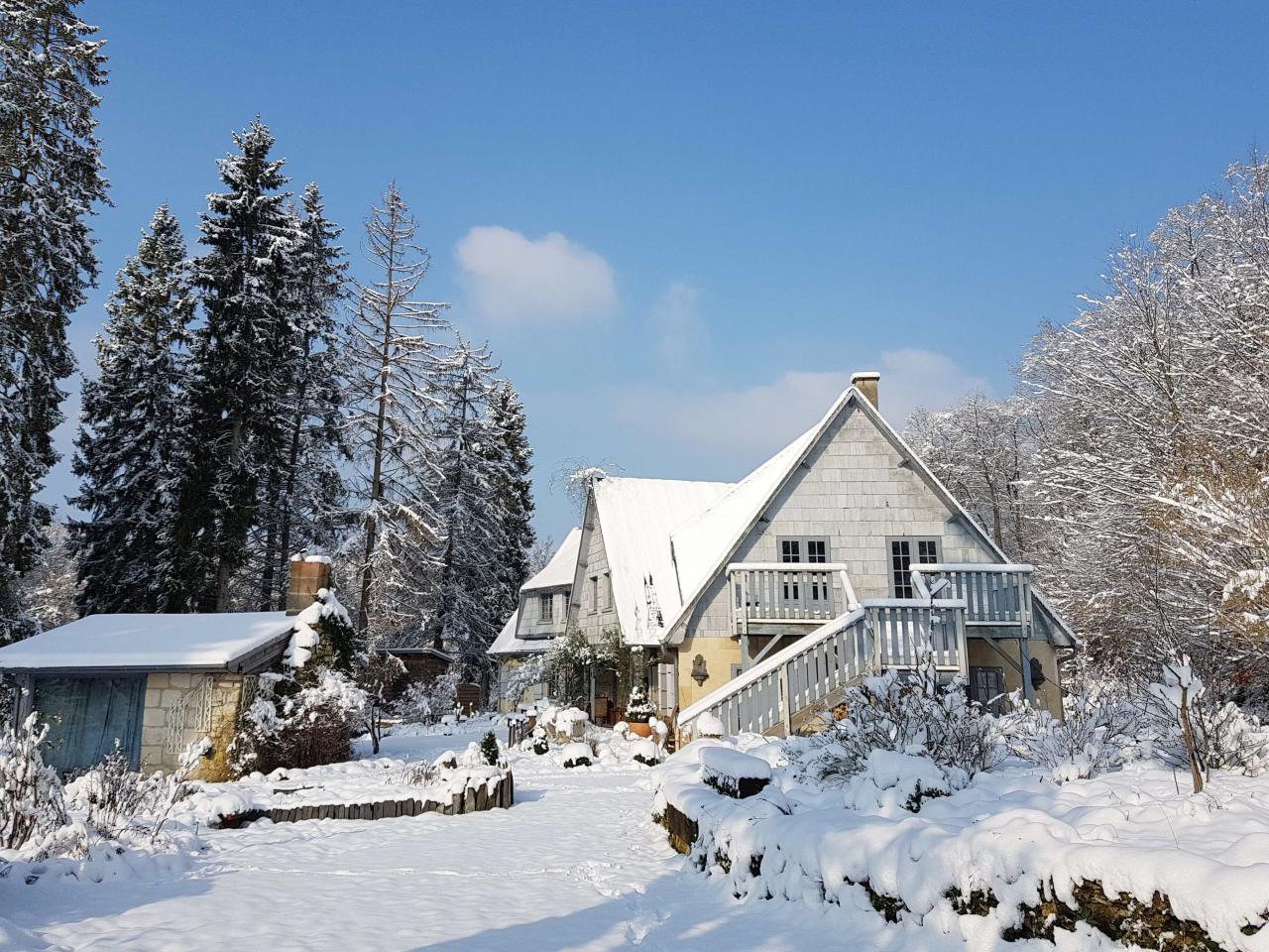 Jardin de Saint Jean sous la neige